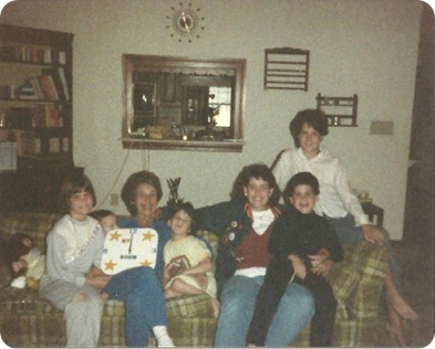 Mrs T, her kids, and Me October 1986